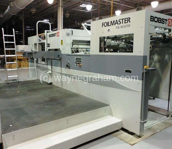 Image of Used Bobst Foilmaster 104 FR Hot Foiling Machine