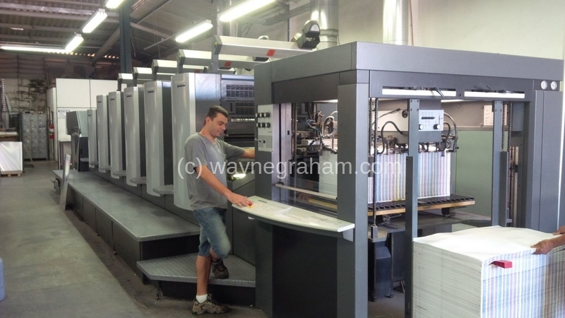 Image of Used Heidelberg Speedmaster CX 102-5-L Five Colour Printing Press With Coating Unit