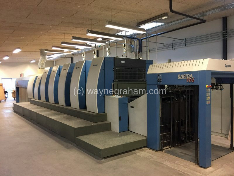 Image of Used KBA Rapida 106-5+L CX Five Colour Printing Press With Coating Unit