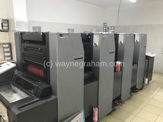 Image of Used Heidelberg Speedmaster 52-4 Four Colour Printing Press For Sale