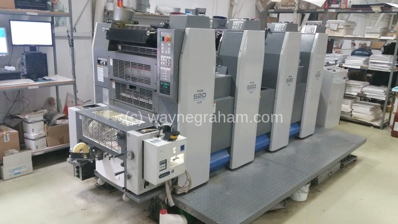 Image of Used Ryobi 524 GX Four Colour Printing Press