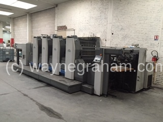 Image of Used Ryobi 754 XL Four Colour Printing Press
