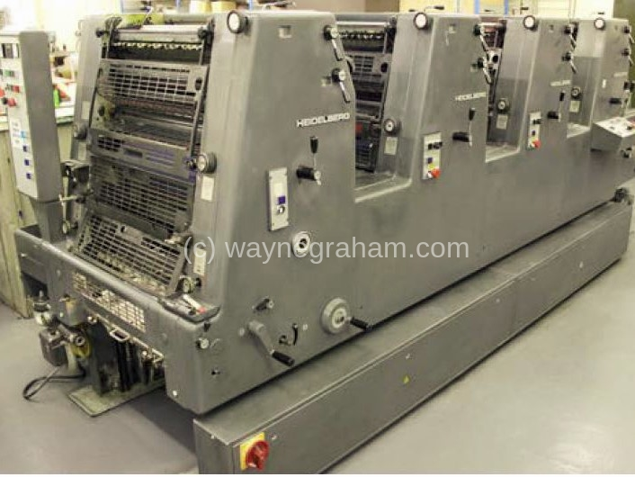 Image of Used Heidelberg GTOVP 52 Four Colour Printing Press For Sale