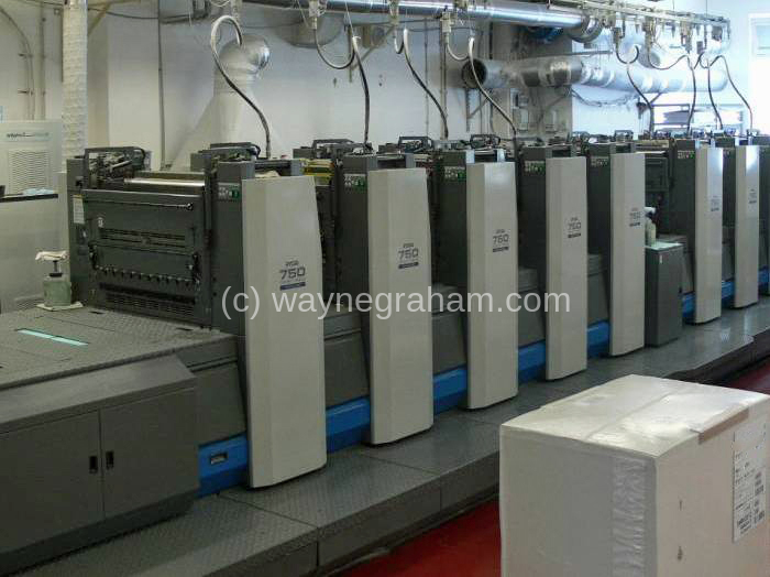 Image of Used Ryobi 7510 Ten Colour Printing Press With Interdeck UV Dryer