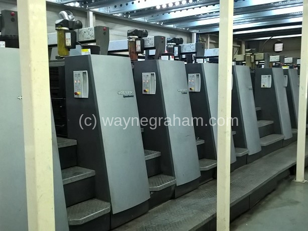 Image of Used Heidelberg Speedmaster CD 74-10-P-H Ten Colour Printing Press With Interdeck UV Dryer