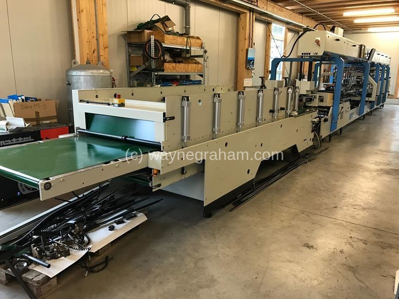 Image of Used Jagenberg Diana 115-3 Folding Carton Gluer