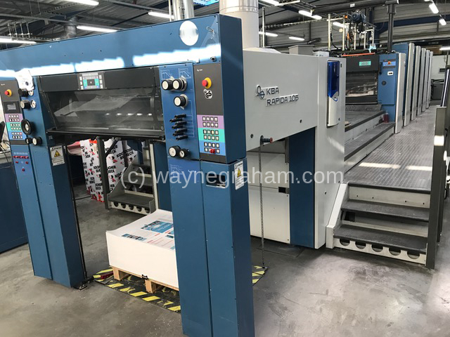 Image of Used KBA Rapida 105-5+L Five Colour Printing Press With Coating Unit