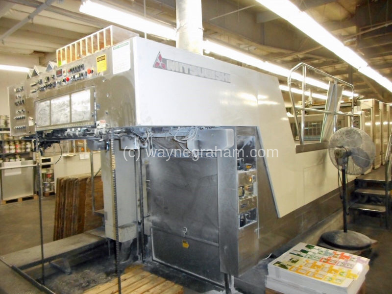 Image of Used Mitsubishi Diamond 3000 LX-6+L Six Colour Printing Press With Coating Unit