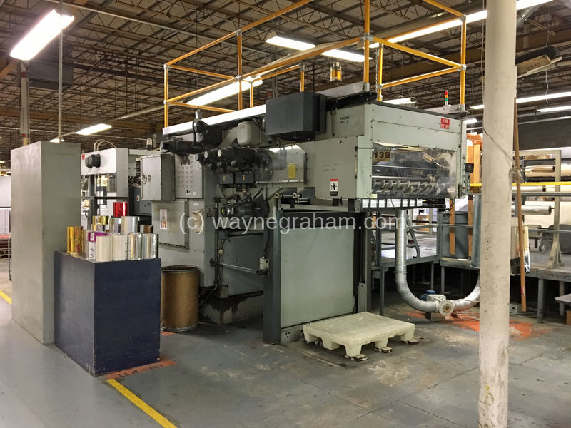 Image of Used Bobst SP 126-BMA Hot Foiling Machine