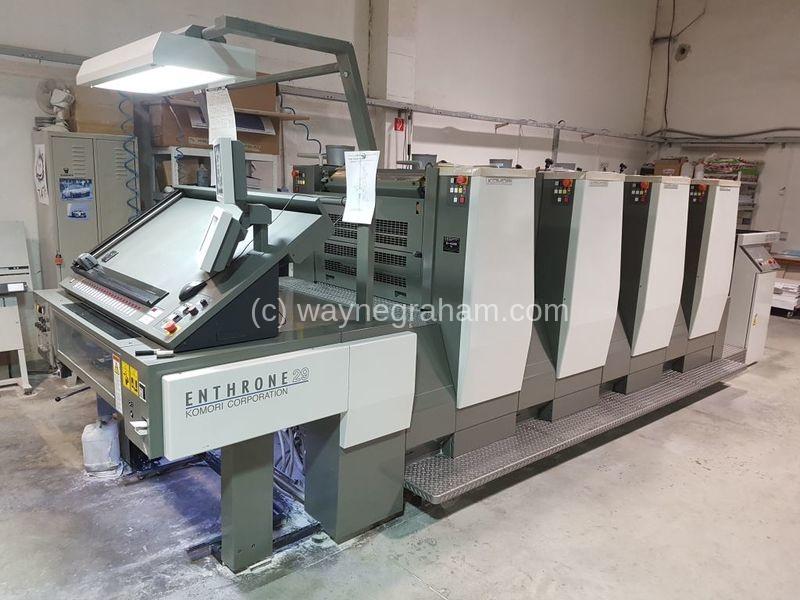 Image of Used Komori Enthrone 429 Four Colour Printing Press