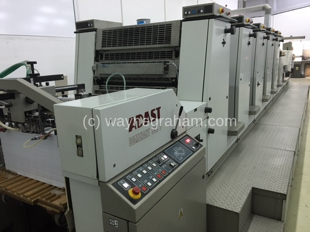 Image of Used Adast Dominant 856 P+L Five Colour Printing Press With Coating Unit
