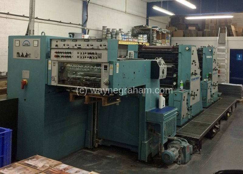 Image of Used Roland Favorit RVFOB Four Colour Printing Press