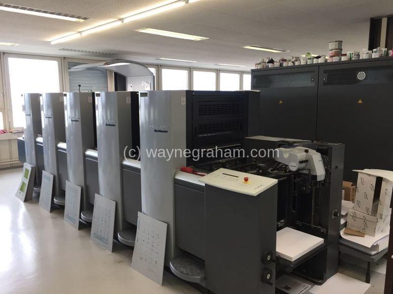 Image of Used Heidelberg Speedmaster 52-5 Five Colour Printing Press