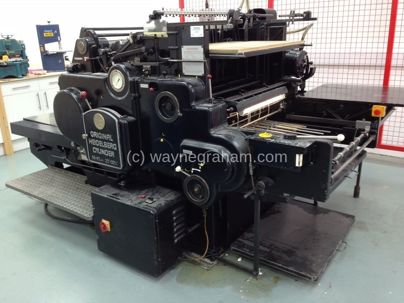 Image of Used Heidelberg SBB Cylinder Converted For Cutting And Creasing