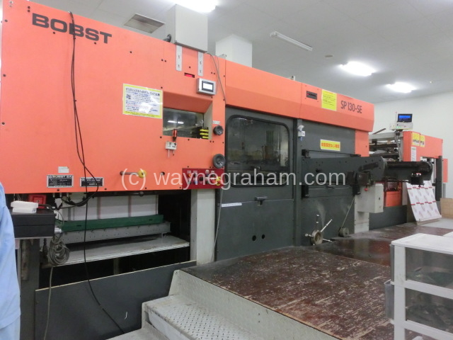 Image of Used Bobst SP 130-SE Die Cutter With Stripping Unit