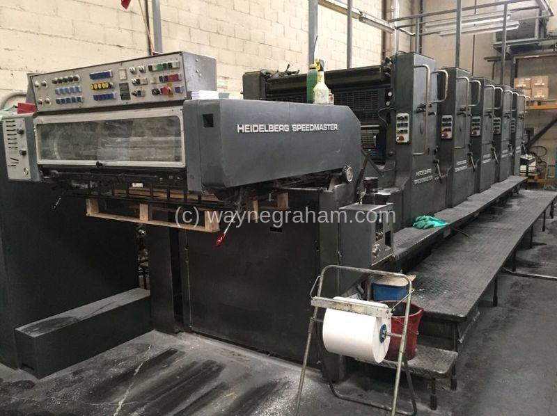 Image of Used Heidelberg Speedmaster 102 FPP Five Colour Printing Press