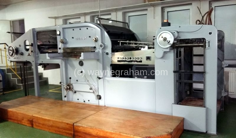 Image of Used Bobst SP 1080-E Die Cutter With Stripping Unit