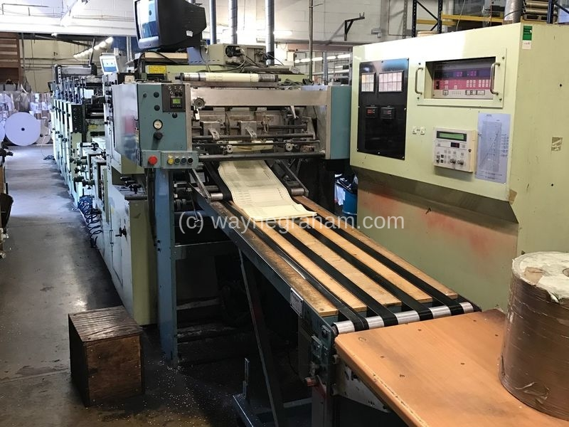 Image of Used Miyakoshi MBF-18 Continuous And Business Forms Web Press