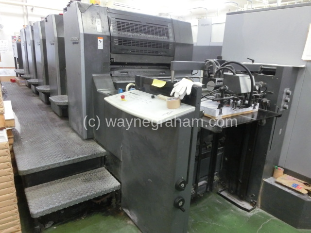 Image of Used Heidelberg Speedmaster 74-5-P-H Five Colour Printing Press