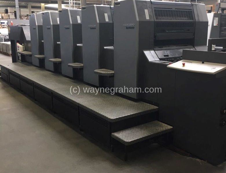Image of Used Heidelberg Speedmaster 74-5-P-H Five Colour Printing Press