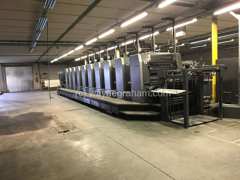 Image of Used Heidelberg Speedmaster 102-10-P Ten Colour Printing Press