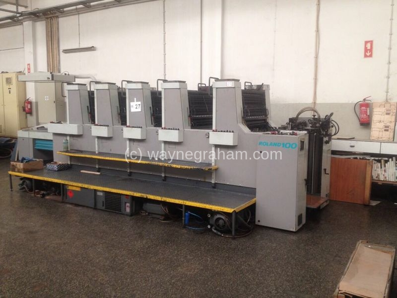 Image of Used Roland 105 T01 Five Colour Printing Press