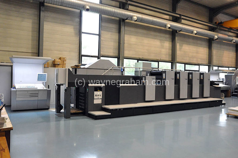 Image of Used Heidelberg Speedmaster 74-4-H-LX Four Colour Printing Press With Coating Unit