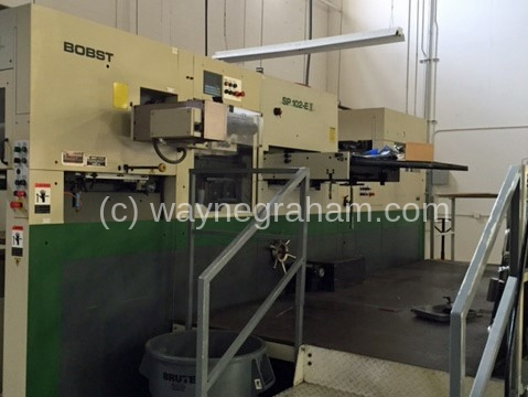 Image of Used Bobst SP 102-E II With Hot Foiling Unit