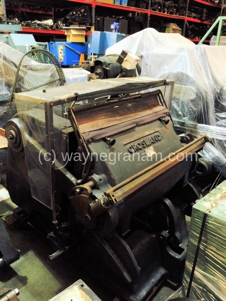 Image of Used Crosland 91 cm Platen Clam Shell Hand Fed Die Cutter