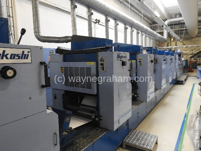 Image of Used Miyakoshi MVF-20L Continuous And Business Forms Web Press