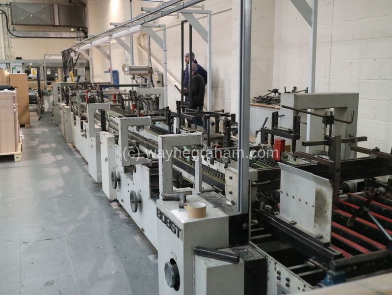 Image of Used Bobst Domino 100-M Folding Carton Gluer