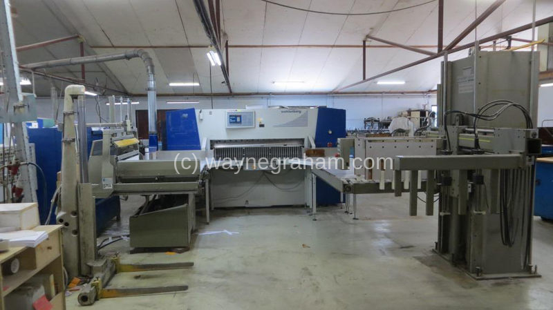 Image of Used Wohlenberg Cut-Tec 155 Guillotine Cutting Line
