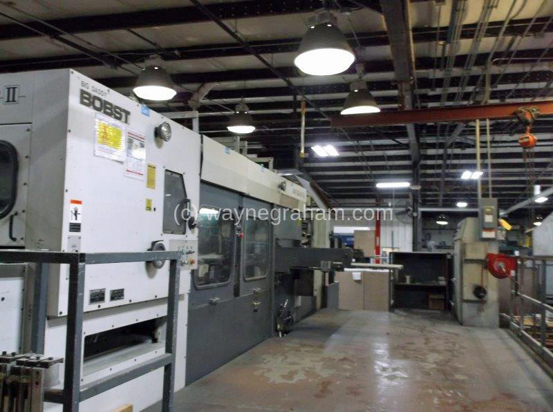 Image of Used Bobst SP 130-ER II Die Cutter With Stripping And Blanking Units