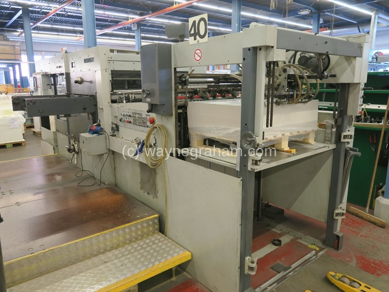 Image of Used Bobst SP 102-E Die Cutter With Stripping Unit