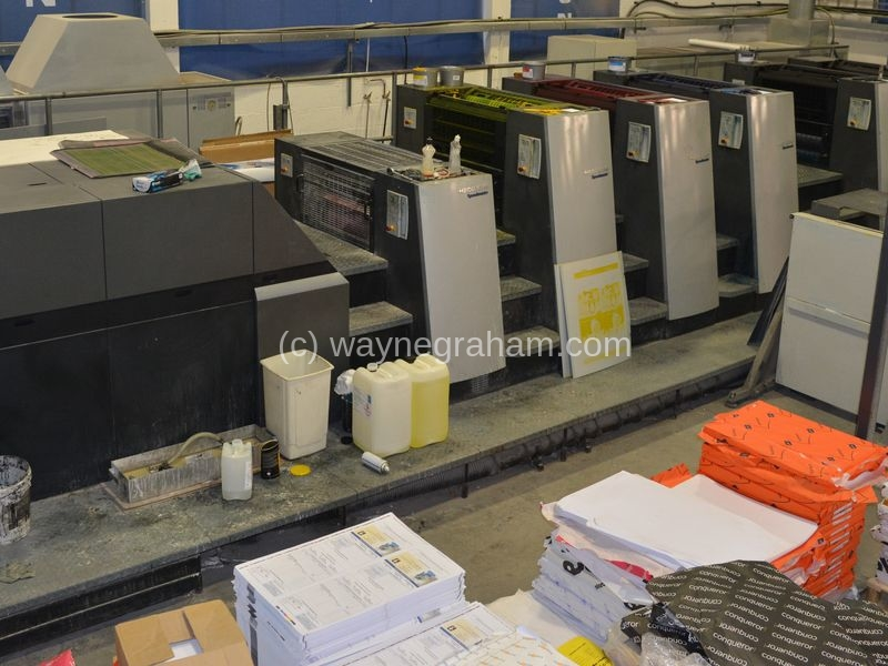 Image of Used Heidelberg Speedmaster XL 75-5-P-LX Five Colour Printing Press With Coating Unit