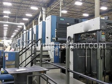 Image of Used KBA Rapida 142-7+L CX Seven Colour Printing Press With Coating Unit