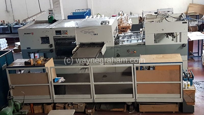 Image of Used Bobst SPeria 106-E Die Cutter With Stripping Unit