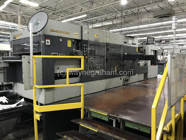 Image of Used Bobst SP 102-CER Die Cutter With Stripping And Blanking Units
