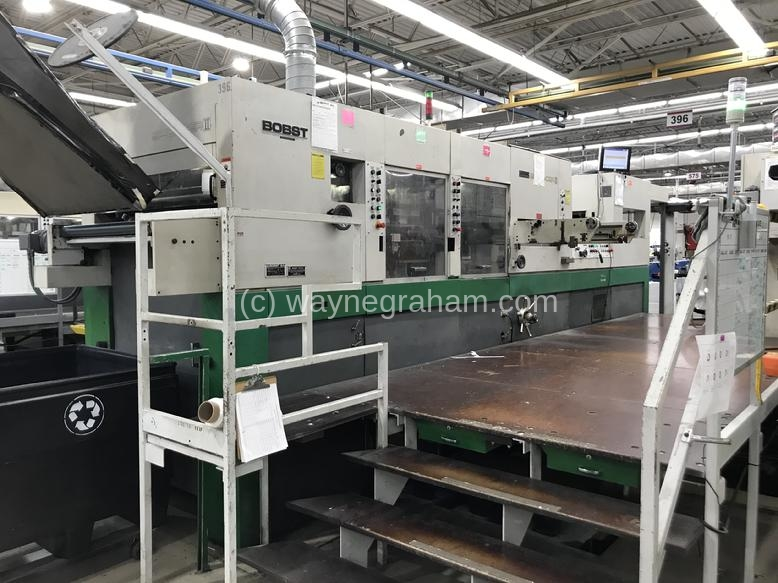 Image of Used Bobst SP 102-CER II Die Cutter With Stripping And Blanking Units