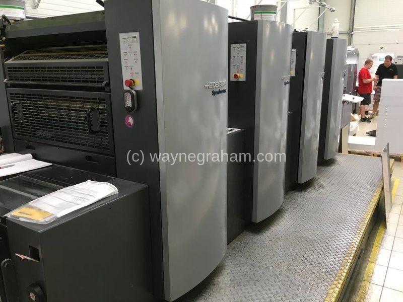 Foto von Gebrauchte Heidelberg Speedmaster 74-4 Four Colour Printing Press