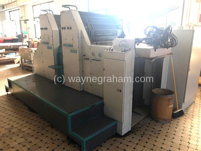 Image of Used Roland 202 E Two Colour Printing Press