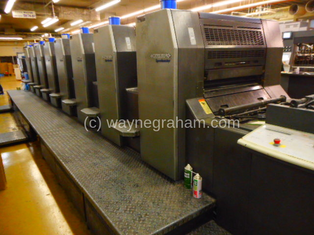 Image of Used Heidelberg Speedmaster 74-8-P-H Eight Colour Printing Press