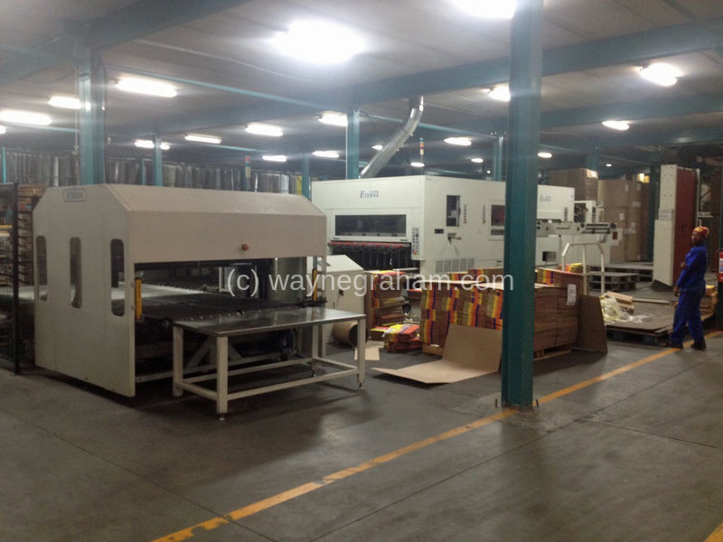 Image of Used Eterna PE-2100S Corrugated Die Cutter With Stripping Unit