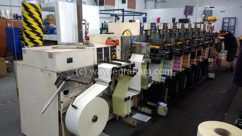 Image of Used Nilpeter F-2400 Seven Colour Flexographic Web Press