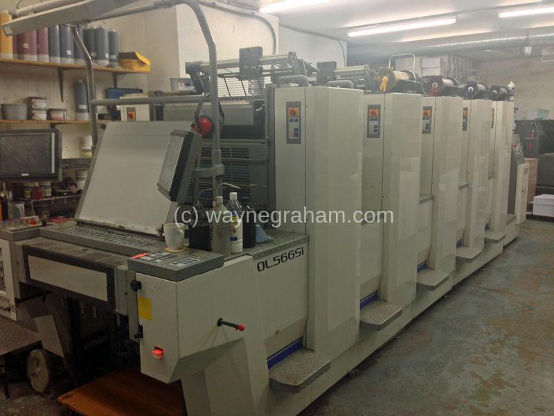 Bild von Gebrauchte Sakurai Oliver 566 SI Fünffarbendruckmaschine
