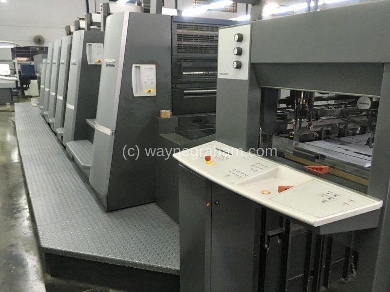 Bild von Gebrauchte Heidelberg Speedmaster CD 74-5-P-LX Fünffarbendruckmaschine mit Lackierwerk