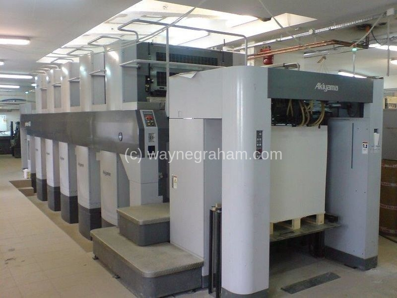 Image of Used Akiyama J Print 540 Ten Colour Printing Press