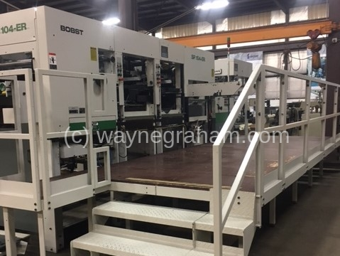 Image of Used Bobst SP 104-ER Die Cutter With Stripping And Blanking Units