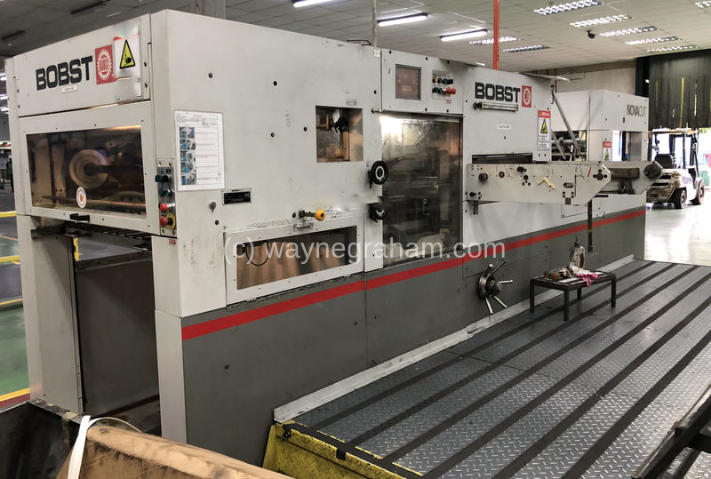 Image of Used Bobst Novacut 106-E Die Cutter With Stripping Unit