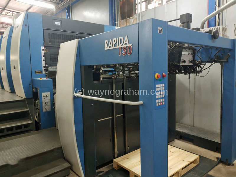 Bild von Gebrauchte KBA Rapida 130A-4 Vierfarbendruckmaschine